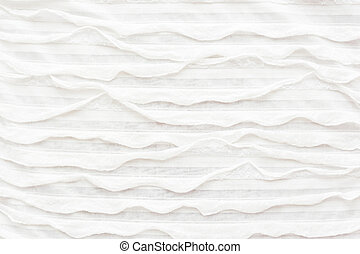 ruche., resumen, tela, textil, fondo., blanco