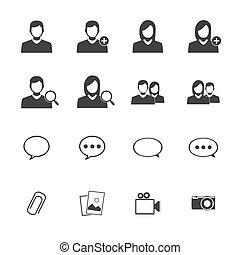 ruchomy, aplication, pogawędka, ikony