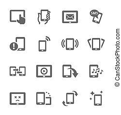 ruchomy, ikony