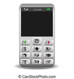 ruchomy, pikolak, rozmowa telefoniczna, telefon, ikony