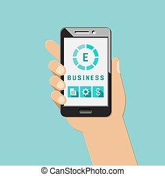 ruchomy, pojęcie, apps, e-handlowy