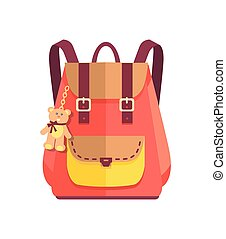 Rucksack for Girl with Cute Teddy Bear, Big Pocket