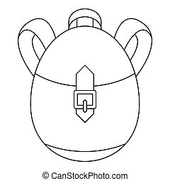 Rucksack icon, outline style