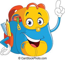 rucksack, karikatur