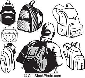 rucksack, sammlung
