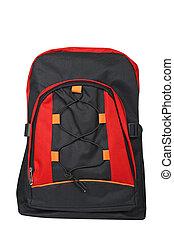 rucksack, schwarz rot
