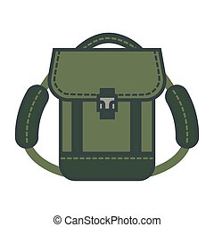 Rucksack with adjustable straps adventure time isolated icon