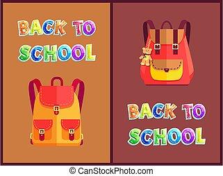 Rucksacks for Girls with Bear Toy Trinket Poster