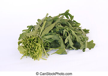 Rucola - Fresh rucola on a white background