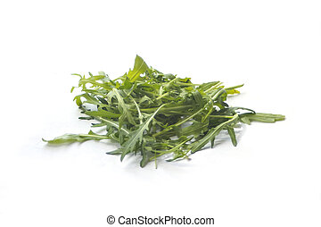rucola on white