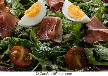 rucola salad closeup