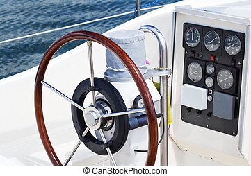 Rudder and instruments - Deatail of rudder and navigation...