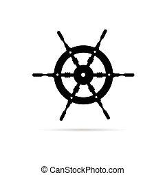 rudder illustration in black color