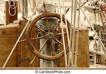 old sailboat rudder