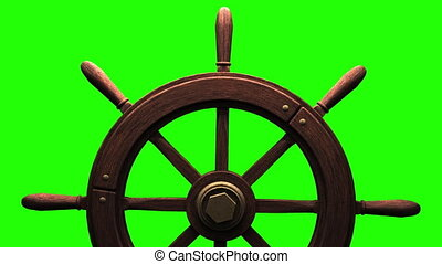 Rudder on green chroma key.