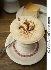 Rudesheimer Coffee and Cake - Traditional cup of coffee with...