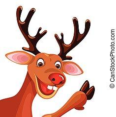 Rudolf reindeer isolated on white - Rudolf reindeer isolated...