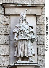 Rudolf Weyr: Magyar, on the facade of the Neuen Burg on...