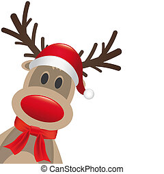 reindeer red nose hat and scarf - rudolph reindeer red nose...