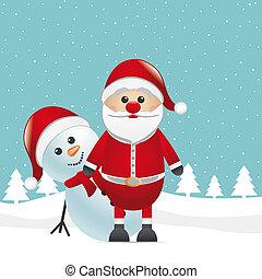 reindeer red nose look santa claus