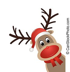 rudolph reindeer red nose - reindeer red nose scarf santa...