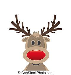 reindeer red nose santa claus hat - rudolph reindeer red...