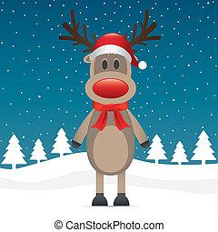 rudolph reindeer red nose scarf hat - rudolph reindeer red ...