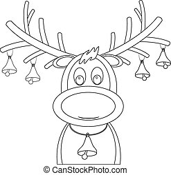 rudolph reindeer with christmas bel