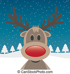 rudolph with red nose