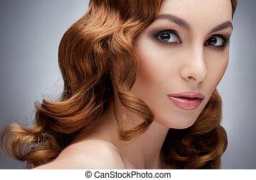 rudzielec, piękna kobieta