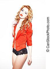 rudzielec, sexy underwear, koronkowy