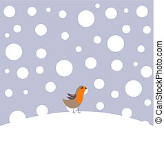 rudzik, w, zima