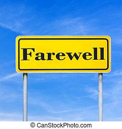 rue, adieu, signe