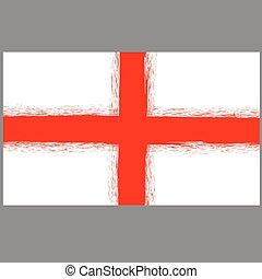 rue., anglaise, drapeau, george