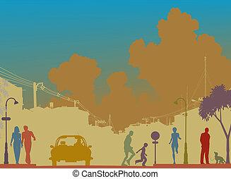 rue, coloré
