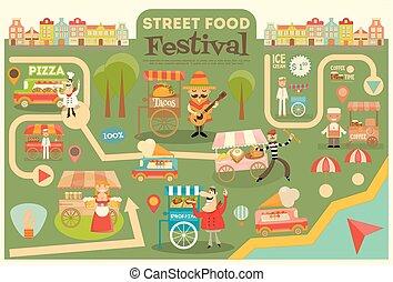rue, festival, nourriture