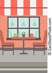 rue, fond, cafe.
