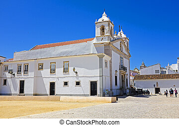 rue., lagos, maria, portugal, église