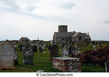 rue, materiana, cimetière, église