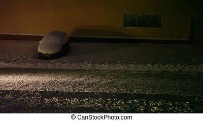 rue, nettoie, neige, tracteur