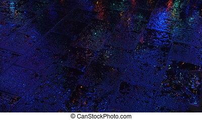 rue, nuit, pluie, mouillé
