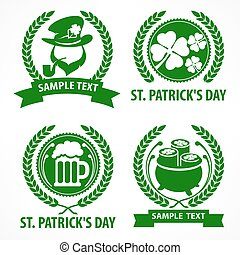 rue., patrick., symboles, s, vert, jour