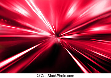 rue, rouges, nuit