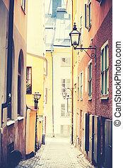 rue, vieux, stockholm