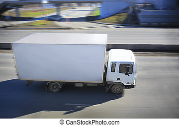 rue ville, conduite camion