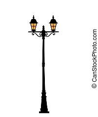 rue ville, lanterne