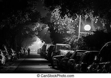 rue ville, nuit