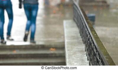 rue ville, pluie
