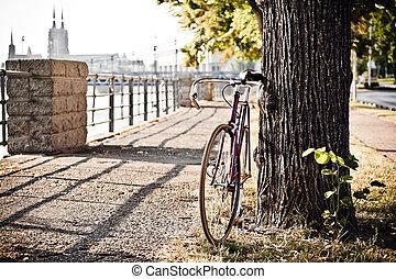 rue ville, vélo, route