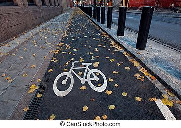 rue ville, vélo, symbole